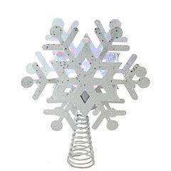 Northlight Seasonal Pre-Lit Snowflake Christmas Tree Topper