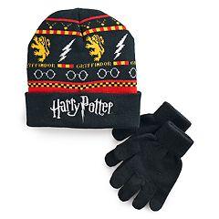 Boys 4-20 Harry Potter Griffindor Hat & Gloves Set