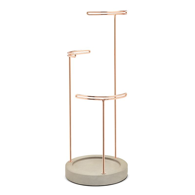 Umbra Tesora Jewelry Stand, Light Red Display your favorite jewelry in organized style with this Umbra Tesora jewelry stand. 16.25''H x 6.25''D Stands at varying heights for added storage space Construction AND Care Resin Wipe clean Imported Manufacturer's 5-year limited warranty For warranty information please click here Size: One Size. Color: Light Red.