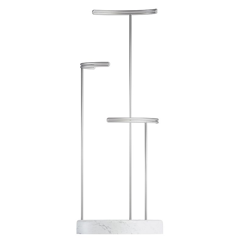 Umbra Tesora Jewelry Stand, Blue Display your favorite jewelry in organized style with this Umbra Tesora jewelry stand. 16.25''H x 6.25''D Stands at varying heights for added storage space Construction AND Care Resin Wipe clean Imported Manufacturer's 5-year limited warranty For warranty information please click here Size: One Size. Color: Blue.