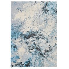 Nourison Abstract Shag Intricate Cloud Area Rug
