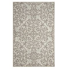 Nourison Damask Anchor Area Rug