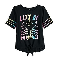 Girls 7-16 & Plus Size SO® Knot Hem Graphic Tee