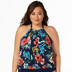 10dc69cc01 Women s Plus Size Croft   Barrow® Alicia Tankini Top