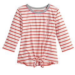 Girls 7-16 & Plus Size SO® Knot Hem Tee