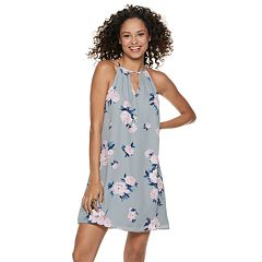 Juniors' Candie's® Pleated Halter Swing Dress