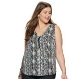 Juniors' Candie's® Mixed-Media Zipper Top