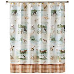 Saturday Knight, Ltd. Adirondack Dog Shower Curtain