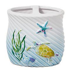 Saturday Knight, Ltd. Watercolor Ocean Toothbrush Holder