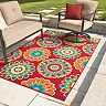 Sonoma Goods For Life® Floral Medallion Indoor Outdoor Rug