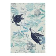 SONOMA Goods for Life? Printed Turtle Indoor Outdoor Rug