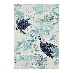 SONOMA Goods for Life™ Printed Turtle Indoor Outdoor Rug