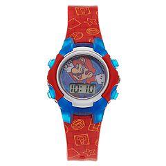 Super Mari Bros. Kids' Digital Light Up Watch