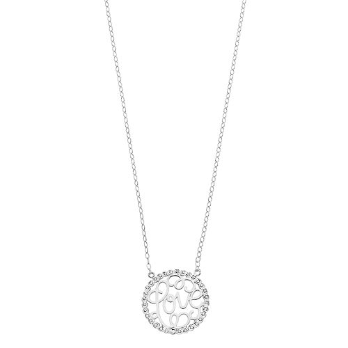 Diamond Mystique Sterling Silver Diamond Accent Love Necklace