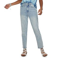 Juniors' Mudd High-Waisted Straight Leg Jeans