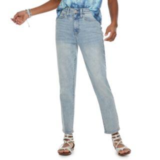 Juniors' Mudd High-Waisted Straight Leg Jeans