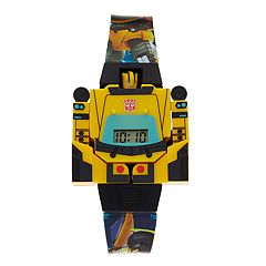 Transformers Kids' Bumblebee Detachable Minifigure Digital Watch