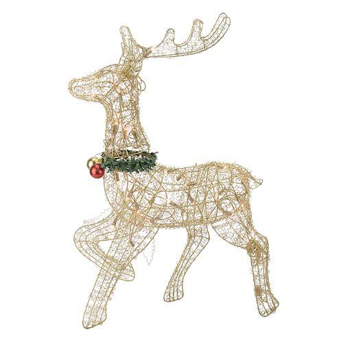 Outdoor Christmas Reindeer Decorations Lighted  from media.kohlsimg.com