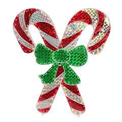 Northlight Seasonal Candy Cane Holographic Decoration