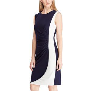 3406bf81 Regular. $95.00. Women's Chaps Colorblock Sheath Dress