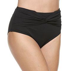 Women's Apt. 9® Twist-Front High-Waisted Bikini Bottoms