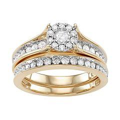 10k Gold 3/4 ct. T.W. Diamond Engagement Ring