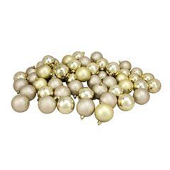 Northlight Seasonal Champagne Gold Shatterproof Ball Christmas Ornament 60-piece Set