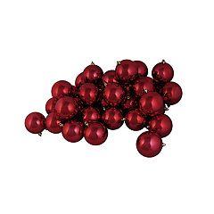 Northlight Seasonal Red Shatterproof Ball Christmas Ornament 12-piece Set