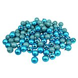 Northlight Seasonal Turquoise Blue Shatterproof Ball Christmas Ornament 96-piece Set