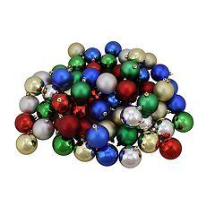Northlight Seasonal Traditional Shatterproof Ball Christmas Ornament 96-piece Set