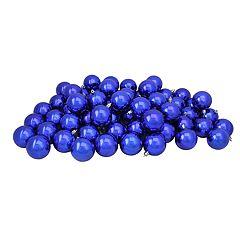 Northlight Seasonal Royal Blue Shatterproof Ball Christmas Ornament 60-piece Set