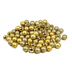 Northlight Seasonal Gold Shatterproof Ball Christmas Ornament 96-piece Set