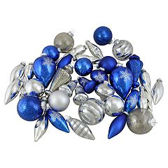 Northlight Seasonal Blue & Silver Christmas Ornament 36-piece Set