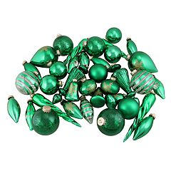 Northlight Seasonal Green & Gold Christmas Ornament 36-piece Set