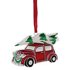 Northlight Seasonal Red Car & Wreath Christmas Ornament