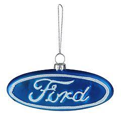 Northlight Seasonal Ford Logo Glass Christmas Ornament