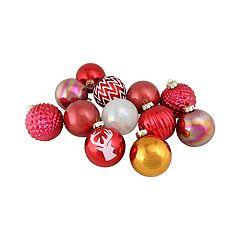 Northlight Seasonal Reindeer & Iridescent Ball Christmas Ornament 12-piece Set