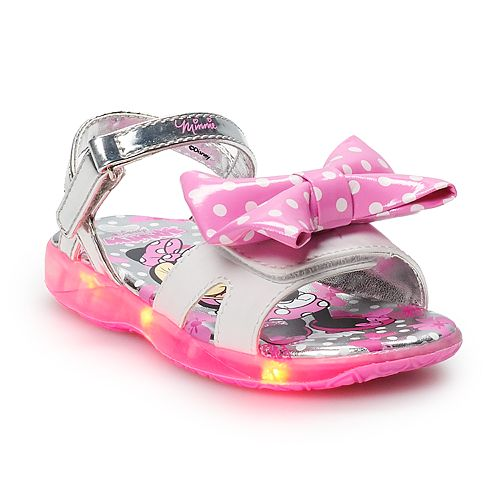 Minnie Mouse Girls' Light Up Sandals