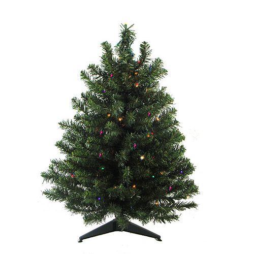 3 Pre Lit Christmas Tree.Northlight Seasonal 3 Ft Pre Lit Led Two Tone Canadian