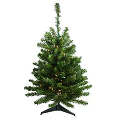 Northlight Seasonal 3-ft. Pre-Lit Canadian Pine Artificial Christmas Tree