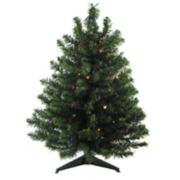 Northlight Seasonal 2-ft. Pre-Lit LED Two-Tone Canadian Pine Artificial Christmas Tree