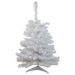 Northlight Seasonal 3-ft. LED Pre-Lit White Artificial Christmas Tree