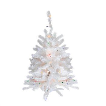 Northlight Seasonal 2 Ft Pre Lit White Artificial Christmas Tree