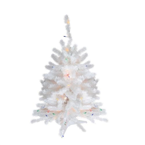 Northlight Seasonal 18 In Pre Lit Led White Artificial Christmas Tree