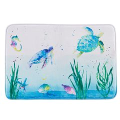 Saturday Knight, Ltd. Watercolor Ocean Bath Rug
