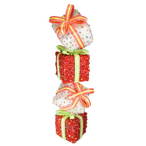 Lighted Christmas Boxes Decoration.Northlight Seasonal Lighted Tinsel And Candy Stacked Gift Boxes Christmas Outdoor Decoration