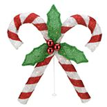 Northlight Seasonal Lighted Red & Silver Double Candy Cane Christmas Decoration