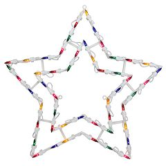 Northlight Seasonal Multi-Color Lighted Star Christmas Window Silhouette Decoration