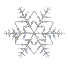 Northlight Seasonal Lighted Snowflake Christmas Window Silhouette Decoration (Pack of 4)