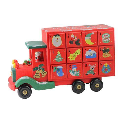 Northlight Seasonal Children S Advent Calendar Red Storage Truck Christmas Decoration